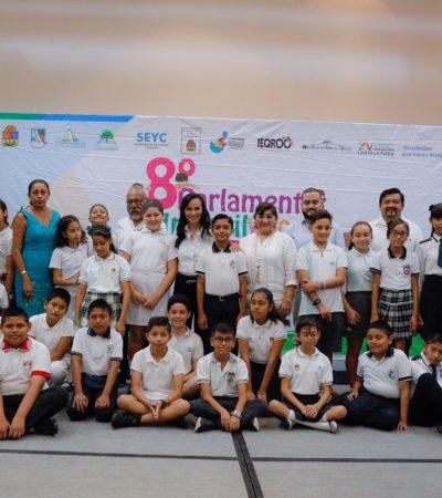 Preside Alcaldesa inicio del 8° Parlamento Infantil en Puerto Morelos