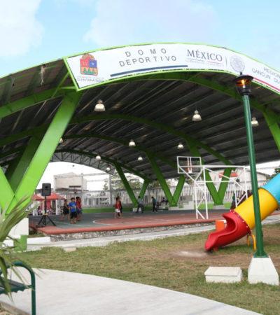 Entrega Remberto el onceavo domo deportivo, ahora en la SM 220 de Cancún