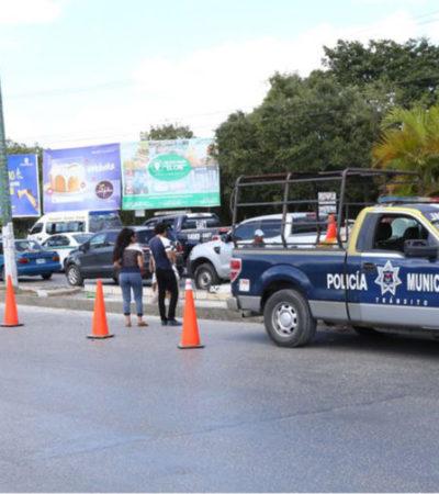 Inicia segunda etapa de cierre de retornos y vueltas prohibidas en la Avenida Kabah de Cancún