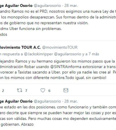 POLEMIZAN POR LEY DE MOVILIDAD Y CONFLICTOS DE TRANSPORTISTAS: Alejandro Ramos no es el PRD, aclara Aguilar Osorio