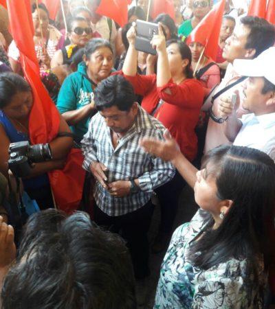 PROTESTAN ANTORCHISTAS EN MÉRIDA: Piden entrega de apoyos y aterricen recursos