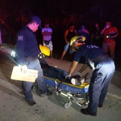Arrollan a joven en Calzada del Centenario de Chetumal