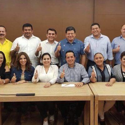 Con la ausencia de Perla Tun y Portilla Manica, Carlos Joaquín tiene informal encuentro con candidatos del PAN-PRD-MC
