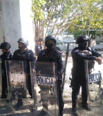 RECUPERA CARLOS JOAQUÍN TERRENOS DEL CREA: Aseguran policías predio en litigio rematado por el IPAE en la era Borge-Félix; se seguirá combatiendo la impunidad, advierte Gobernador