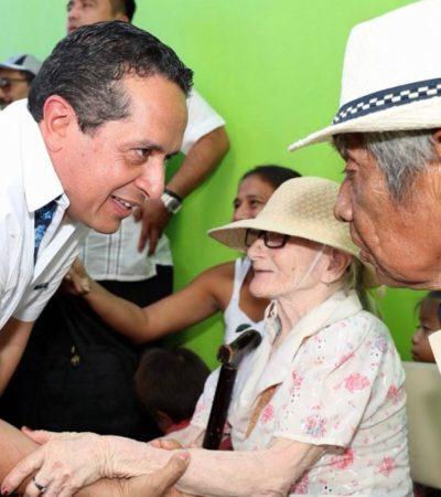 Encabeza Carlos Joaquín 'caravana' de servicios: Más de 32 mil 554 habitantes de 99 localidades han sido atendidos con 27 mil 693 acciones, asegura