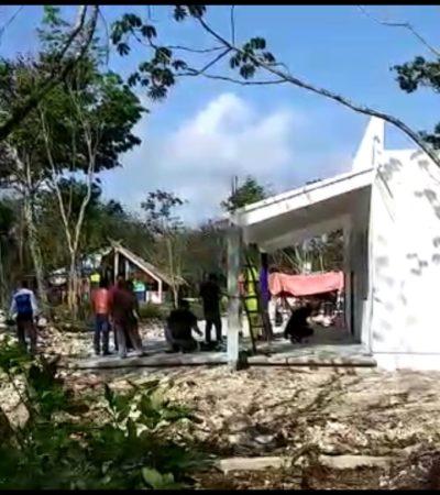 Hallan cadáver de un hombre en kínder en construcción en la colonia 'El Porvenir' de Cancún