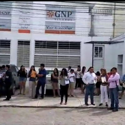 Por supuesta amenaza de bomba, evacúan oficinas de la SRE y del gobierno municipal de BJ en la Avenida Náder