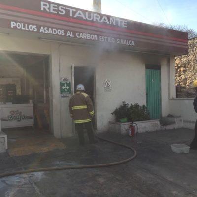 Un trabajador herido y daños por incendio en el Pollo Brujo de Mérida