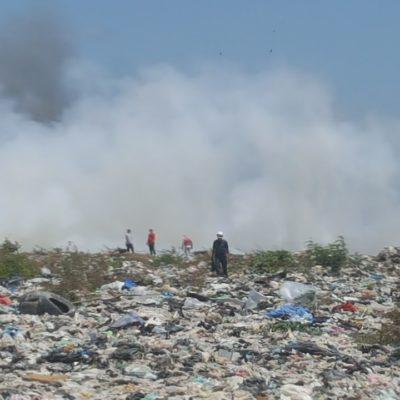 Aún no controlan cuatro hectáreas de incendio en basurero de OPB