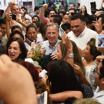 """""""VAMOS A ARRANCAR BIEN Y VAMOS A GANAR"""": Llega Meade a Mérida para el inicio de su campaña el domingo"""
