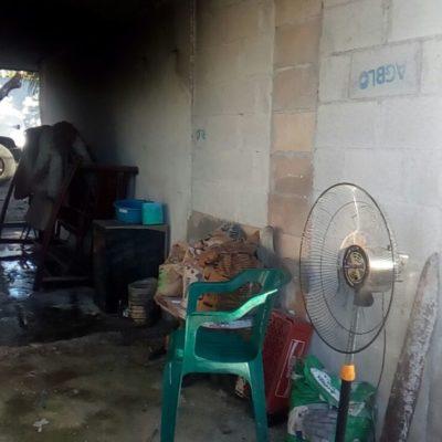 Veladora quema casa en Chetumal