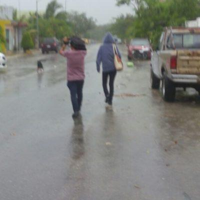Vaguada trae intensas lluvias a Quintana Roo