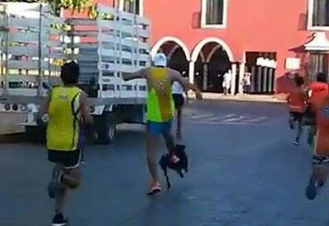 Maratonista 'pateador' de perro ofrece disculpas en redes; indignación de Alcaldesa de Valladolid