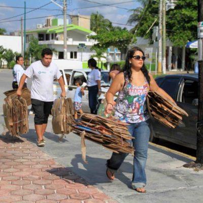 Ahora el Reciclatón va del Casco Antiguo a la unidad deportiva de Villas Morelos II en Puerto Morelos