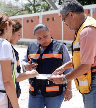 Cristina Torres supervisa 5 obras públicas en proceso en Playa del Carmen