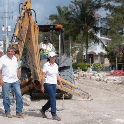 Supervisa Alcaldesa cambio de imagen en Casco Antiguo de Puerto Morelos