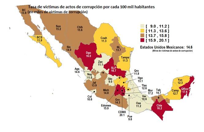 Destaca Quintana Roo en víctimas de corrupción gubernamental, revela encuesta de INEGI