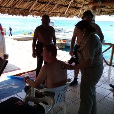 Cuatro buzos de Estados Unidos reportados como desaparecidos fueron rescatados por la Marina mexicana al norte de Cozumel