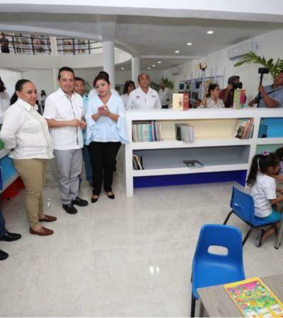 Entregan obras de salud, educación y apoyo familiar en Solidaridad