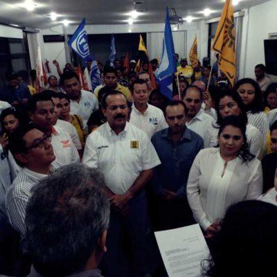 VAN AL SENADO POR EL 'FRENTE': Mayuli Martínez y Julián Ricalde registran candidaturas de alianza 'Por México al frente'