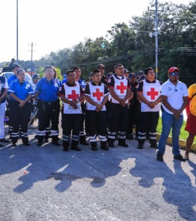 Operativo 'Semana Santa Segura 2018' inicia con todos los cuerpos de seguridad de Tulum