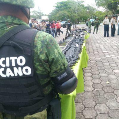 Destruye el Ejército 477 armas incautadas en Quintana Roo