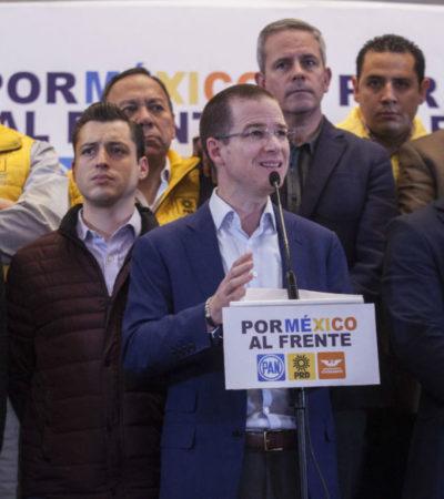 El panista Ricardo Anaya exige al Presidente Enrique  Peña Nieto sacar las manos de proceso electoral