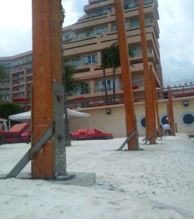 Obstruyen libre paso en zona de playas