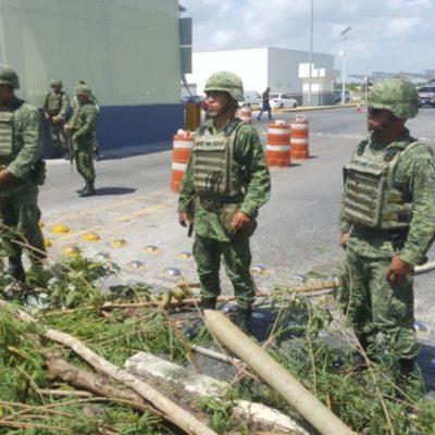 PROTESTA EN PUENTE FRONTERIZO CON BELICE: Con troncos, habitantes de Subteniente López cierran paso hacia la Zona Libre