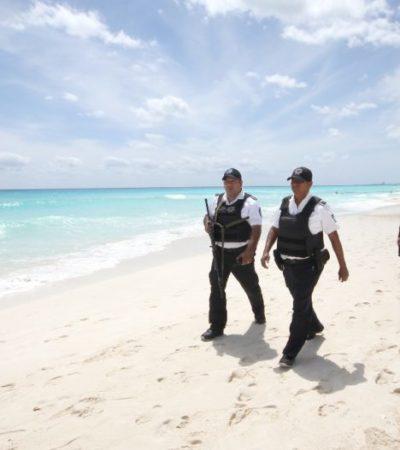 La vigilancia de playas en Zona Hotelera la conforman 250 policías de diferentes corporaciones