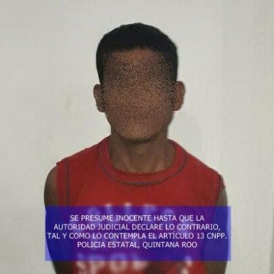 Policía Estatal asegura a presunto narcomenudista en Calderitas