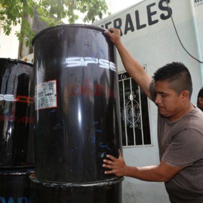 Donan empresas botes de basura al Ayuntamiento de Tulum