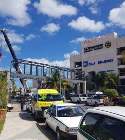 Paso peatonal en Puerto Juárez altera flujo vehicular
