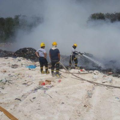 Basurero de Chetumal seguirá ardiendo cuatro días más