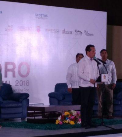 """""""ES UNA POSIBILIDAD REAL"""": Que el tren vaya de Cancún hasta Chetumal, desea Gobernador Carlos Joaquín González"""