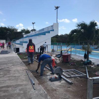 Con inversión de 10 mdp, remodelan instalaciones deportivas para la sede de Olimpiada Nacional en QR