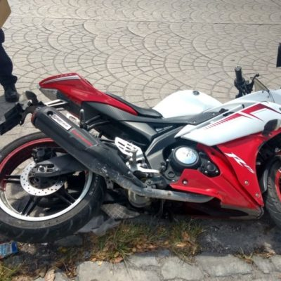 Capturan a ladrón de motocicleta