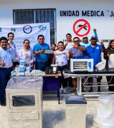 Entregan equipamiento a Sector Salud y Educativo en Punta Allen