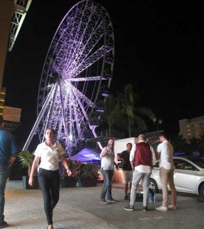 GIRAR Y GIRAR DESDE CANCÚN: Así fue la inauguración de la Gran Rueda en la Zona Hotelera (FOTOS)