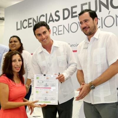 Facilita Ayuntamiento de Cancún renovación de licencias de funcionamiento 2018