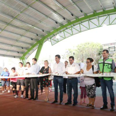 Con inversión de casi 3 mdp, entrega Alcalde un domo deportivo en la SM 260 de Cancún