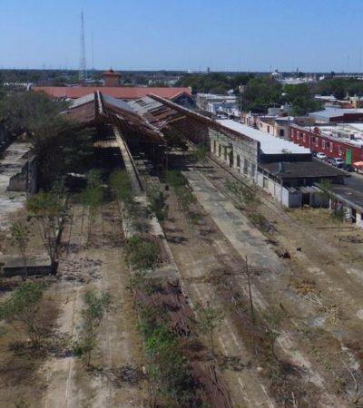 Retiran trenes de la histórica estación conocida como 'La Plancha' en Mérida como primer paso para detonar 'un gran proyecto urbano'