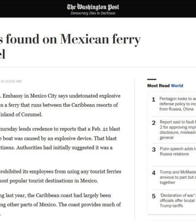 Así publican medios internacionales el hallazgo de presuntos artefactos en el casco de embarcación de Barcos Caribe