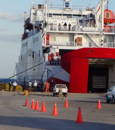 Barco Transcaribe interrumpe cruce y regresa a Cozumel