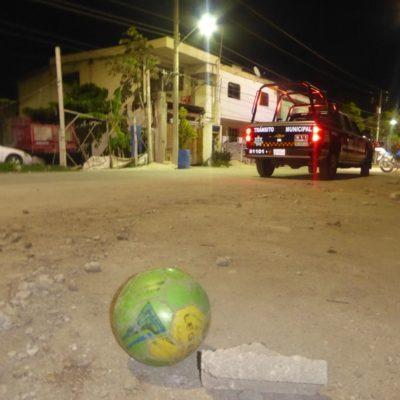 'Cascarita' en Playa del Carmen casi termina en tragedia; auto arrolla a niño de 2 años