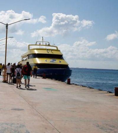 SECUELAS DEL CASO BARCOS CARIBE | BAJA 40% AFLUENCIA DE PASAJEROS EN EL CRUCE PLAYA-COZUMEL: Prevalece fuerte vigilancia y aparente calma en zona turística tras alerta de seguridad de Embajada de EU