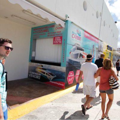 SECUELAS DEL CASO BARCOS CARIBE | COZUMEL SE MANTIENE EN CIERNES: Cancelación de tours de cruceros provoca momentáneo auge en negocios del centro de la isla, pero prevalece la incertidumbre