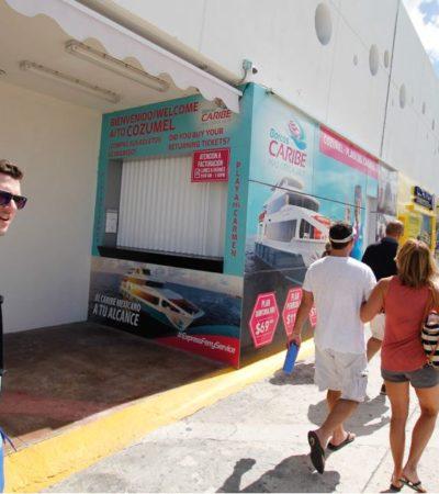 SECUELAS DEL CASO BARCOS CARIBE   COZUMEL SE MANTIENE EN CIERNES: Cancelación de tours de cruceros provoca momentáneo auge en negocios del centro de la isla, pero prevalece la incertidumbre