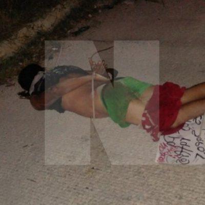 TERCERA EJECUCIÓN DEL DOMINGO EN CANCÚN: Amarrado de pies y manos y con tiro de gracia, tiran cuerpo de un hombre en la Región 260