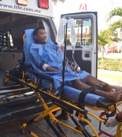 Intentan ejecutar a un joven en Puerto Morelos; le dan dos balazos en el abdomen